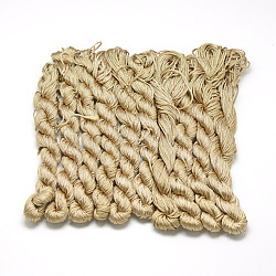 Braided Polyester Cords, Camel, 1mm; about 26m/bundle, 10bundles/bag(OCOR-Q039-078)