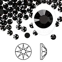 cristal autrichien cabochons de strass, passions de cristal, déjouer retour, Xirius rose, 2088, 280 _jet, 3.8~4 mm(X-2088-SS16-280(F))