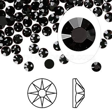 Austrian Crystal Rhinestone Cabochons, Crystal Passions, Foil Back, Xirius Rose, 2088, 280_Jet, 3.8~4mm(X-2088-SS16-280(F))