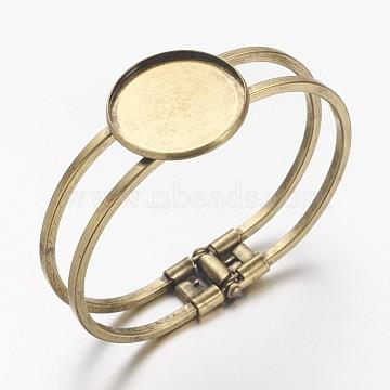 Brass Bangle Making, Blank Bangle Base, Antique Bronze, 60mm, tray: 25mm(X-MAK-S001-SZ027AB)