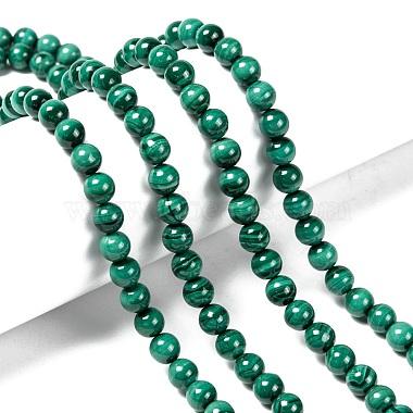 Natural Malachite Beads Strands(G-O166-07A-6mm)-4