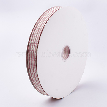 Polyester Ribbon, LightCoral, 1inches(25~26mm); about 100yards/roll(91.44m/roll)(SRIB-T003-08)