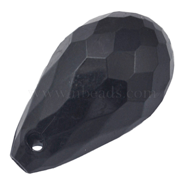 24mm Black Drop Acrylic Pendants