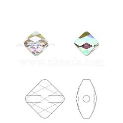 perles de cristal autrichien, 5054, passions de cristal, mini-losange facettes, 001 parsh_cystal brillance de paradis, 6x6 mm, trou: 1 mm(X-5054-6mm-001PARSH(U))