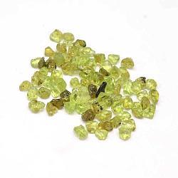 Perles de puce péridot naturel, pas de trous / non percés, 3~9x1~4mm(G-L453-04)