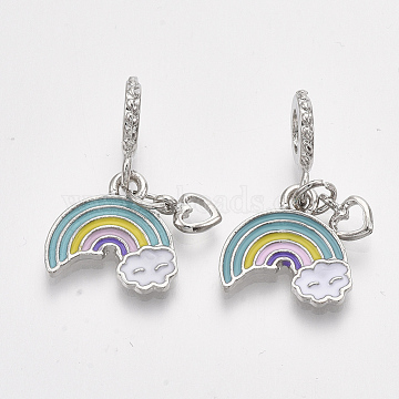 27mm Colorful Others Alloy+Enamel Dangle Beads
