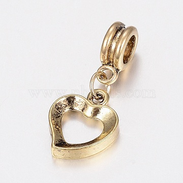 28mm Heart Alloy Dangle Beads