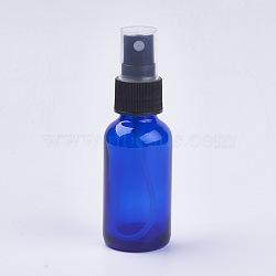 Bouteille en verre, bleu, 10.4x3.3 cm; capacité: 30 ml(MRMJ-WH0011-E01-30ml)