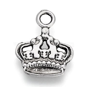 Antique Silver Crown Alloy Pendants