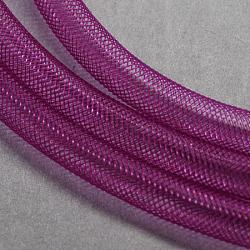 Plastic Net Thread Cord, Purple, 8mm, 30Yards(X-PNT-Q003-8mm-24)