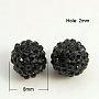 8mm Round Resin+Rhinestone Beads(RB-A025-8mm-A02)