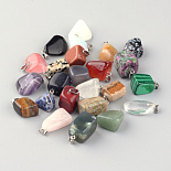Platinum Mixed Color Others Mixed Stone Charms(G-S045-14A)