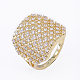 Brass Micro Pave Cubic Zirconia Finger Rings(RJEW-E145-03G)-2