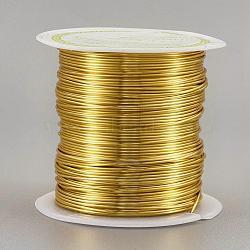 Fil de cuivre fil de perle de cuivre, Plaqué longue durée, or, 21 jauge, 0.7 mm; 13 m / rouleau(CWIR-F001-G-0.7mm)