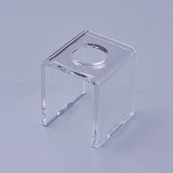Acrylic Lipstick Display Stands, Clear, 34.5x34x40mm(ODIS-WH0005-03)