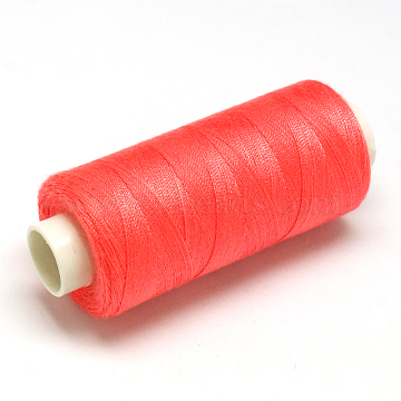 Polyester Sewing Thread, Tomato, 0.2mm; about 400yards/roll(OCOR-O006-B05)