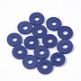 8mm MidnightBlue Disc Polymer Clay Beads(X-CLAY-R067-8.0mm-35)