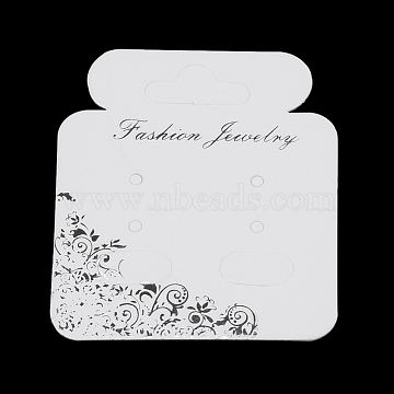 Cardboard Display Cards, Used For Necklaces, Earrings, Bracelets and Mobile Pendants, Creamy White, 56x48x0.3mm(X-CDIS-S025-07)