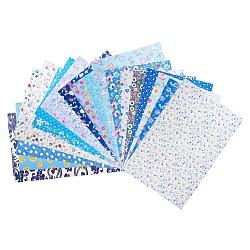 Tissus à coudre de coton imprimé mélangés, pour travaux d'aiguille en patchwork, bricolage tissu à la main, couleur mixte, 29.5~30.5x19.5~20.5x0.3 cm; 20 pcs / sac(DIY-WH0119-01)