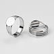 Composants d'anneau ajustable en laiton(X-MAK-Q009-11P-14mm)-2