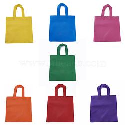 Eco-Friendly Reusable Bags, Non Woven Fabric Shopping Bags, Mixed Color, 37x24.5cm(ABAG-WH005-25cm-M)