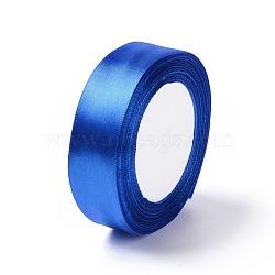 """Атласная лента, синие, 1"""" (25 мм) шириной, 25yards / рулон (22.86 м / рулон), 5 рулоны / группа, 125yards / группа (114.3 м / группа)(RC25mmY040)"""