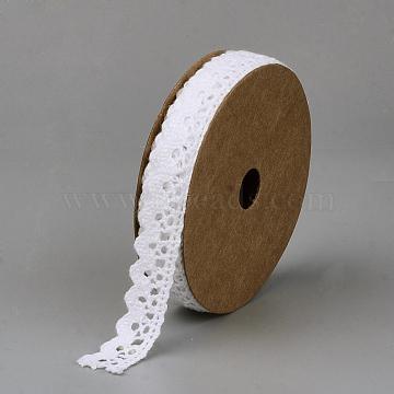 Cotton Ribbons, White, 5/8 inch(15mm), about 2yards/roll(1.829m/roll)(X-SRIB-Q018-14B)