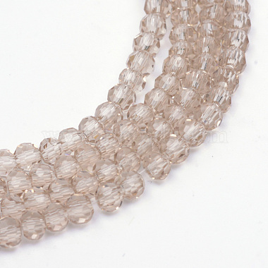 6mm Tan Round Glass Beads