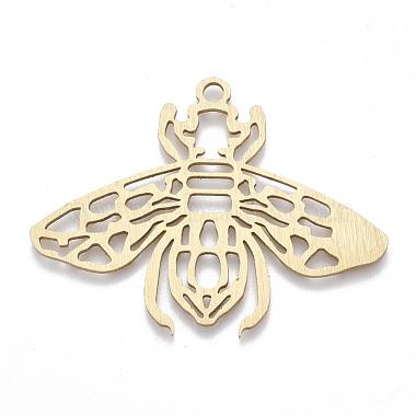 Golden Insects Aluminum Big Pendants