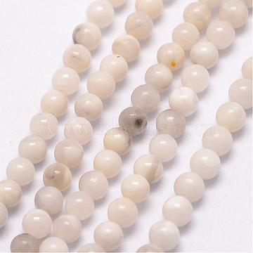 Natural Magnesite Bead Strands, Round, 3~3.5mm, Hole: 0.7mm; about 115~125pcs/strand, 16 inches(G-K146-18-3mm)