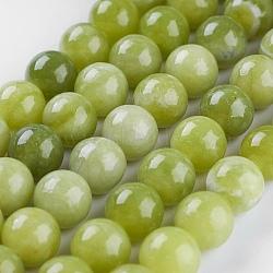 """Péridot naturel chapelets de perles, rond, 8mm, trou: 1mm; environ 47 pcs/chapelet, 14.9"""" (38 cm)(G-P358-01-8mm)"""