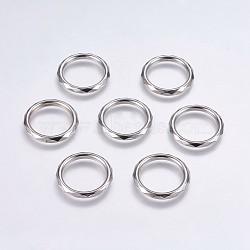 Anneaux de liaison en plastique CCB, anneau, platine, 29x4mm, environ 22 mm de diamètre intérieur(CCB-G006-198P)
