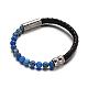 Leather Cord Bracelets(BJEW-E273-02M)-2