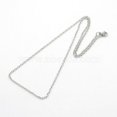 304 Stainless Steel Cable Chain Necklaces(STAS-O037-120P)-2