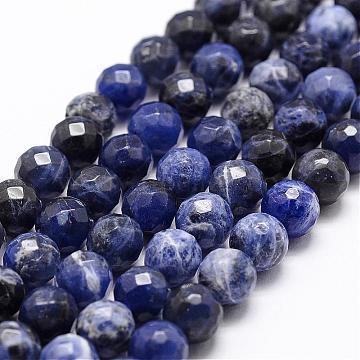 8mm Blue Round Sodalite Beads