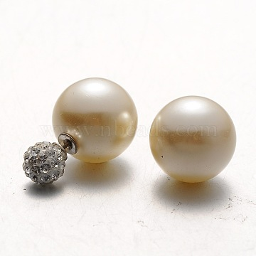 BurlyWood Plastic Stud Earrings