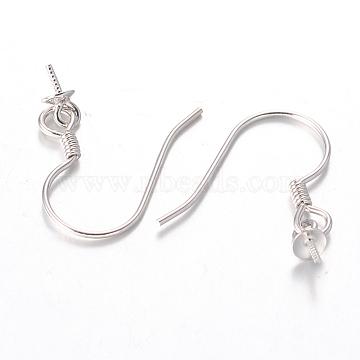 Platinum Sterling Silver Earring Hooks