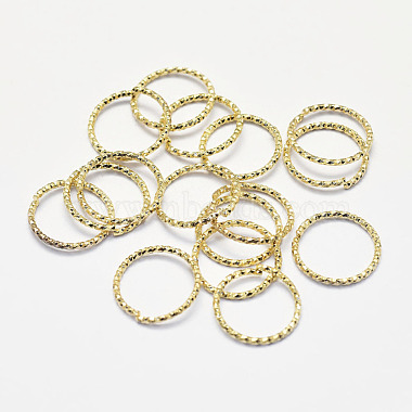 Real 18K Gold Plated Ring Brass Open Jump Rings