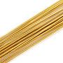 Iron Wire, Goldenrod, 26 Gauge, 0.4mm; 80cm/strand; 50strand/bag
