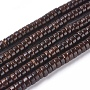 4mm CoconutBrown Flat Round Coconut Beads(X-COCO-O009-03-4x2mm)