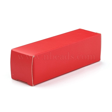 Foldable Kraft Paper Box, for Lipstick Packaging, Rectangle, Crimson, 15.9x5x0.15cm(CON-K008-D-06)