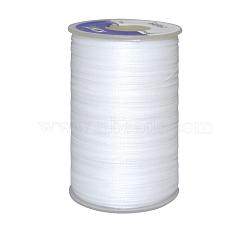 Waxed Polyester Cord, White, 0.55mm; about 35m/roll(YC-E006-0.55mm-A01)
