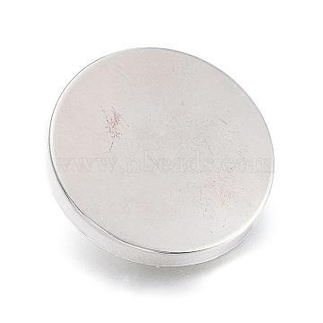 Alloy Shank Buttons, 1-Hole, Flat Round, Platinum, 23x7mm, Hole: 2mm(BUTT-D054-23mm-05P)