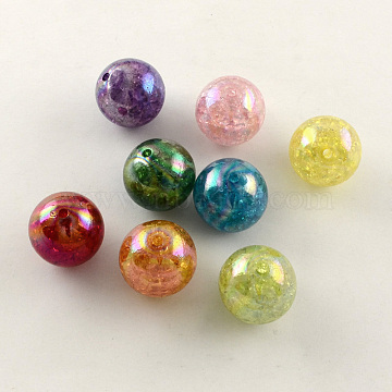 20mm Mixed Color Round Acrylic Beads