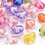 Mixed Color Heart Acrylic Beads(TACR-S152-19A)