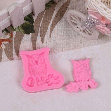 Cute Owl Design DIY Food Grade Silicone Molds(AJEW-L054-24)-4