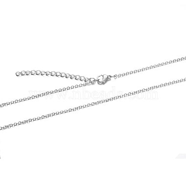 304 Stainless Steel Cable Chain Necklace(X-STAS-T040-PJ204-45)-2