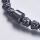 Non-magnetic Synthetic Hematite Mala Beads Necklaces(NJEW-K096-04)-2