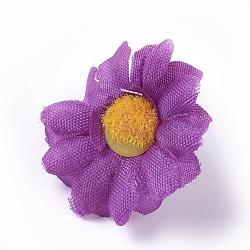 tournesol en tissu de soie, tête de fleur artificielle, pour la décoration de fête de mariage, blueviolet, 40x16~17 mm; diamètre intérieur: 2 mm(DIY-WH0134-A07)