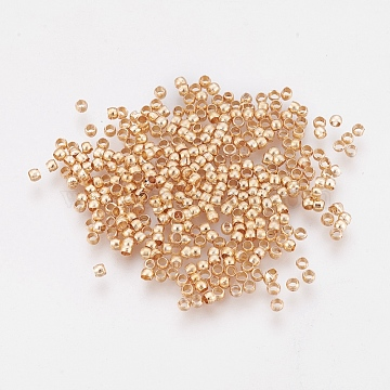 Light Gold Rondelle Brass Beads